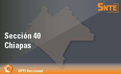 Sección 40. Chiapas