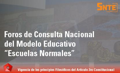 Foros de Consulta Nacional del Modelo Educativo