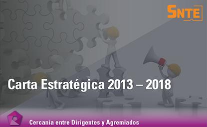 Carta Estratégica 2013 – 2018