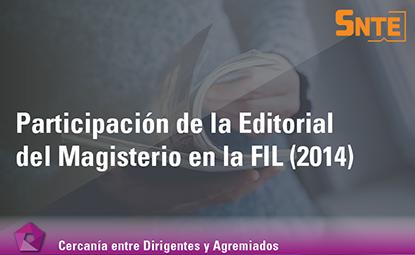"""Participación de la Editorial del Magisterio en la """"FIL Guadalajara, 2014″"""