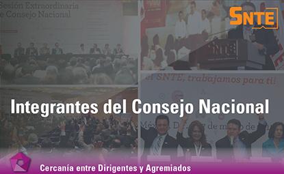 Integrantes del Consejo Nacional