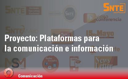 Plataformas para la comunicación e información