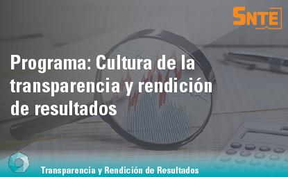 Cultura de la Transparencia y Rendición de Resultados