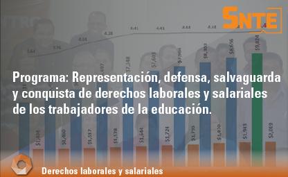 Representación, defensa, salvaguarda y conquista de derechos laborales y salariales de los trabajadores de la educación