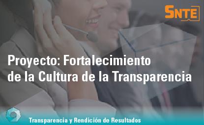 Fortalecimiento de la Cultura de la Transparencia