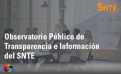 Observatorio Público de Transparencia e Información del SNTE